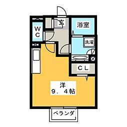愛知県清須市清洲田中町の賃貸アパートの間取り