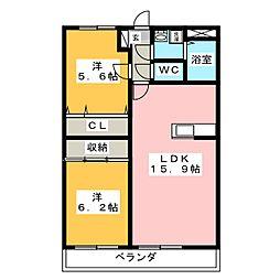 コンフォート鴻之台[1階]の間取り