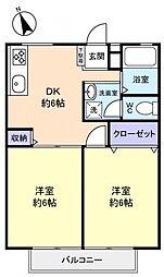 ハイムパインヒル[2階]の間取り