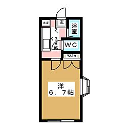 コーポラス軽井沢[2階]の間取り