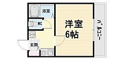 大阪府高石市千代田1丁目の賃貸マンションの間取り