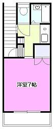 東京都小平市小川東町1丁目の賃貸アパートの間取り