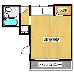 下山荘[1-A号室]の間取り