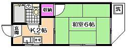 ブルーベリーハウス[2階]の間取り