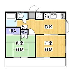松江マンション[3階]の間取り