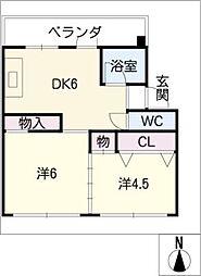稲沢第二センター 402[4階]の間取り
