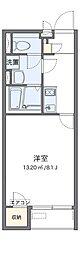 南海高野線 狭山駅 徒歩13分の賃貸アパート 1階1Kの間取り