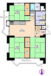若葉台第一住宅26号棟[4階]の間取り