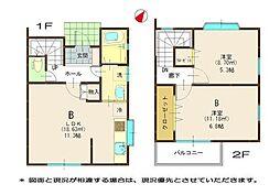 [テラスハウス] 神奈川県藤沢市本鵠沼1丁目 の賃貸【/】の間取り