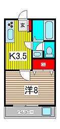 トヤマハイツI・II[1階]の間取り