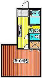 ハビタマンション[302号室]の間取り