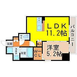 up side M 大曽根[5階]の間取り