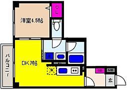 JR東海道・山陽本線 摂津本山駅 徒歩11分の賃貸マンション 3階1DKの間取り
