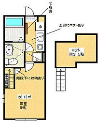 カーサ古淵[2階]の間取り