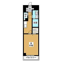 プランドールM[6階]の間取り