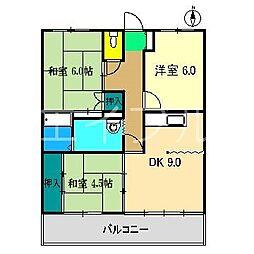 アバン寿[3階]の間取り