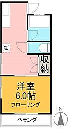 杉荘[201号室]の間取り
