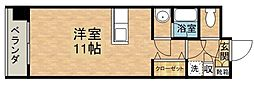 J.WAVE都府楼[3階]の間取り