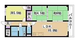 グリーンハイツII[1階]の間取り