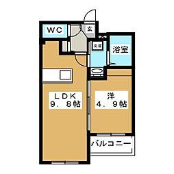 Ritz GRANDE厚別南[4階]の間取り