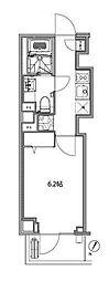 都営大江戸線 赤羽橋駅 徒歩3分の賃貸マンション 4階1Kの間取り