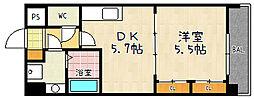 ヒーリングタワー七条大宮[8階]の間取り