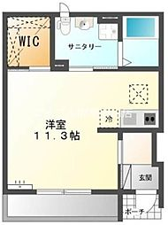 岡山県岡山市東区益野町丁目なしの賃貸アパートの間取り