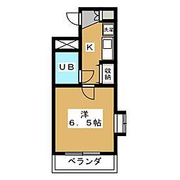 デトム・ワン室町二条[3階]の間取り