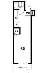 コスモヒロ南台[1階]の間取り