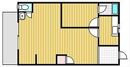 喜志新家町2丁目貸家[1階]の間取り