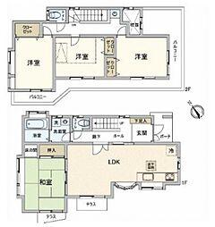 [一戸建] 千葉県松戸市小金きよしケ丘4丁目 の賃貸【/】の間取り