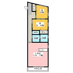 Art Force SUMIYOSHI[2階]の間取り