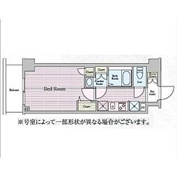 N−stage鶴見[4階]の間取り
