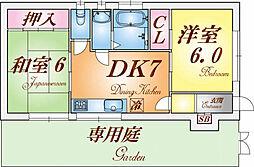 兵庫県神戸市長田区西代通3丁目の賃貸アパートの間取り