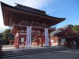 津島神社 地元では「津島の天王さま」と呼ばれ親しまれています。全国約3000社の天王信仰の総本社です。 徒歩 約8分(約620m)