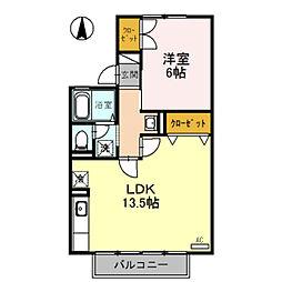 セジュール経堂 A棟[203号室]の間取り