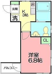 プリメーロ湘南[2階]の間取り