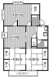 コーポ瀧[1階]の間取り