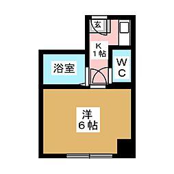 ウィークリーマンションエクセル[4階]の間取り