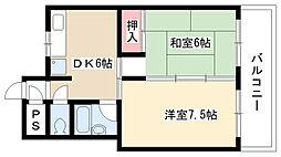 愛知県名古屋市守山区弁天が丘の賃貸マンションの間取り