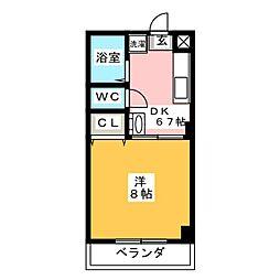 アイビス山崎[3階]の間取り