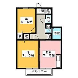 エストヒラミツA[2階]の間取り