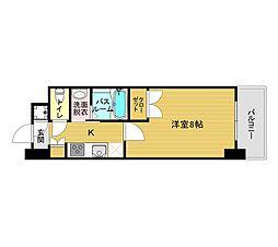 福岡市地下鉄箱崎線 貝塚駅 徒歩12分の賃貸マンション 11階1Kの間取り