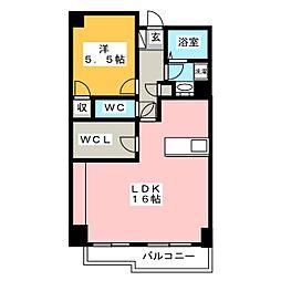 サンヴィレッジ本郷 5階1LDKの間取り