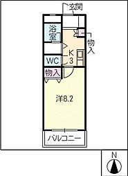 ラセール[1階]の間取り