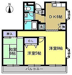 パルハイツ蒲田[3階]の間取り