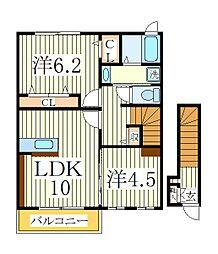 ウィズヒルII[2階]の間取り