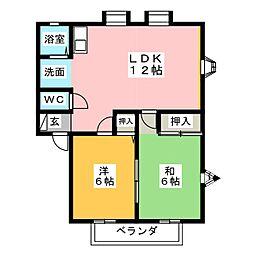 MEMORIAL KAMIYA B棟[1階]の間取り
