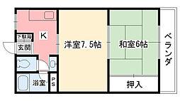 手塚マンション[201号室]の間取り