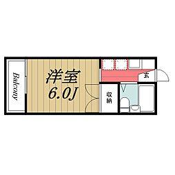 京成本線 京成成田駅 バス28分 根木名台下車 徒歩6分の賃貸アパート 2階1Kの間取り